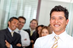 Business man with a group Stock Photography