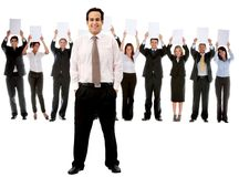 Business man with a group Royalty Free Stock Images