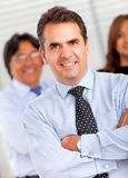 Business man with a group Royalty Free Stock Photo