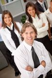 Business man with a group Stock Images