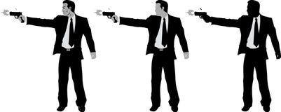 Business man with gun Stock Photo