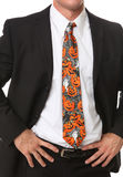 Business Man with Halloween Themed Tie Stock Photo