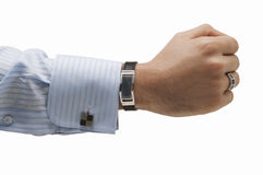 Business man hand. Meaning being strong and successfull in bussiness Stock Photography