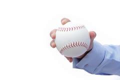 Business man hand and baseball Stock Photos