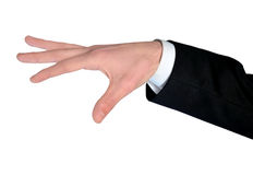 Business man hand control Royalty Free Stock Photo