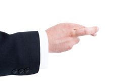 Business man hand with crossed fingers Stock Images