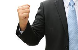 Business man hand doing something Stock Images