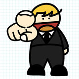 Business man hand draw cartoon. Stock Photo