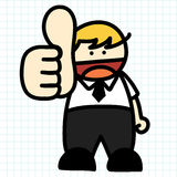Business man hand draw cartoon. Royalty Free Stock Image