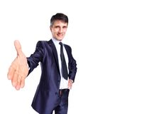 Business man with hand Royalty Free Stock Image
