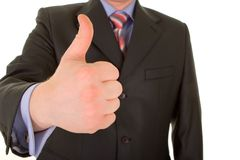 Business man hand gesture isolated Stock Photos