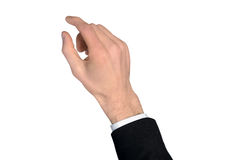 Business man hand grab something. Business man hand grab something Stock Photos