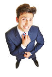 Business man with hand on his tie Royalty Free Stock Photo
