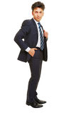 Business man with hand in his trouser pocket Royalty Free Stock Images