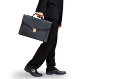 Business man hand holding briefcase Stock Photos