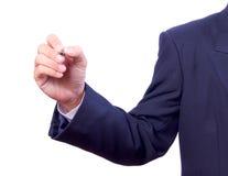 Business man hand holding pen Stock Photo