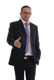 Business man with hand out Stock Image