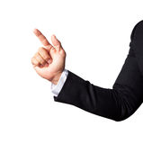 Business man hand pointing finger isolated Royalty Free Stock Photo