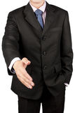 Business man hand shake Stock Images