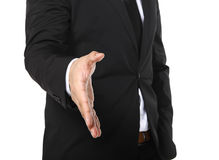 Business man hand shake Stock Image