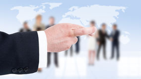 Business man hand showing finger crossed Royalty Free Stock Image