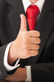 Business man hand showing OK sign Stock Images