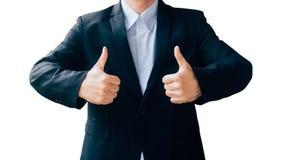 Business man hand sign about good job Stock Photos