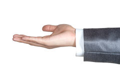 Business man hand sign suit  isolated. Business man hand sign in suit  isolated Stock Image