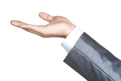 Business man hand sign suit  isolated Royalty Free Stock Images
