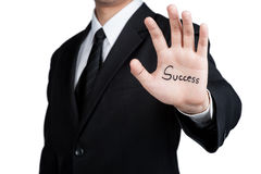 Business man hand success isolated Stock Photos