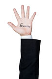 Business man hand success isolated Royalty Free Stock Photography