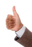 Business man hand with thumb up Royalty Free Stock Image