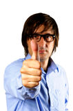 Business man hand with thumb up Stock Photography