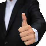 Business man hand with thumb up isolated on white Stock Photo