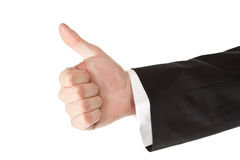 Business man hand thumbs up Stock Photography