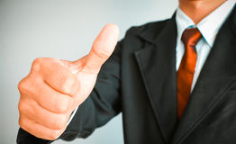 Business man hand thumbs up Royalty Free Stock Photos