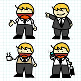 Business man hand writing cartoon . Stock Photography