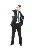 Business man handing contracts Stock Photography