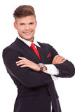 Business man with hands crossed Stock Image