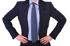 Businessman with hands on his hips. Stock Image