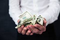 Business man hands holding money Royalty Free Stock Photos