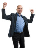 Business man hands up Stock Photo