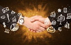 Business man handshake Royalty Free Stock Photo