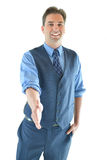 Business man handshake Stock Image