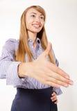 Business man handshaking Stock Photo