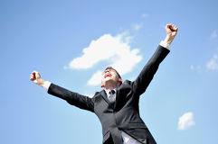 Business Man Happy Royalty Free Stock Images