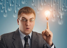 Business man have got an idea Royalty Free Stock Images