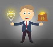 Business man have idea to get money Royalty Free Stock Image