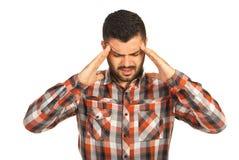 Business man having head pain Stock Photos