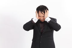 business man having a headache,Serious Stock Photo